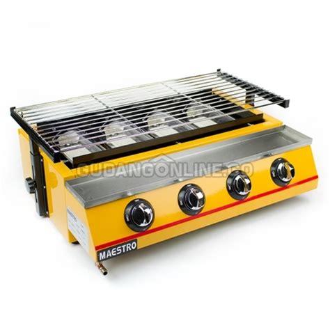 Kompor Gas Steak Bbq maestro panggangan gas roaster bbq kompor 4 tungku tanpa asap et k222 b gudangonline tools