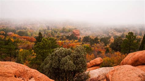 Garden Of The Gods Fall by Fog Receding From Garden Of The Gods Outdoor Photographer