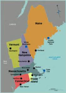 Where Is New England On The Map by Usa New England Map Mapsof Net