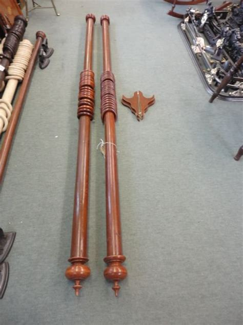 victorian curtain pole pair of victorian curtain poles 175270 sellingantiques