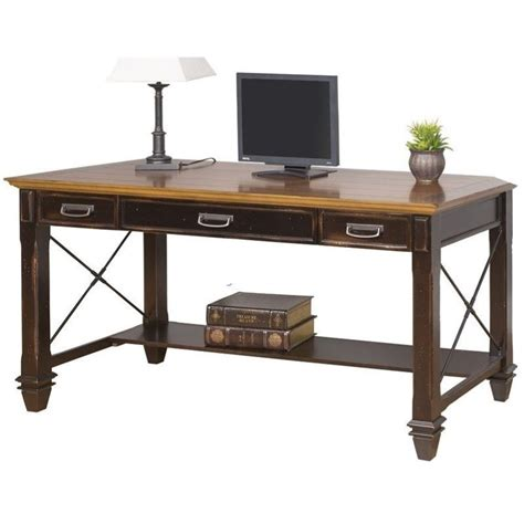 martin furniture hartford writing desk in two tone