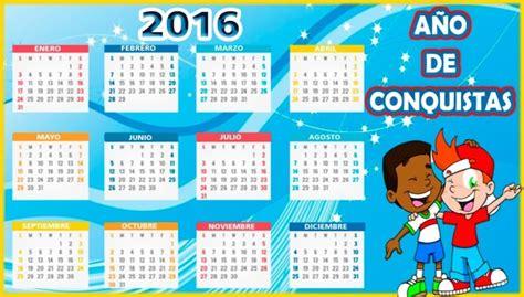 Calendario Que Es Calendarios 2016 Con Dibujos Para Ni 241 Os Para Descargar E