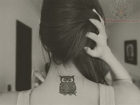 owl tattoo back of neck 101 pretty back of neck tattoos