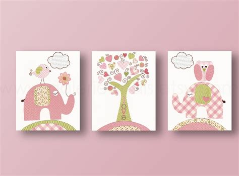 Elephant Wall Decor For Nursery Owl Nursery Elephant Nursery Wall Baby Nursery