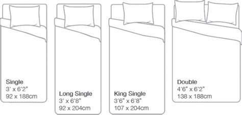 Mattress Size Chart Back To Sleep Mattress Pillow Bed Size In Cm