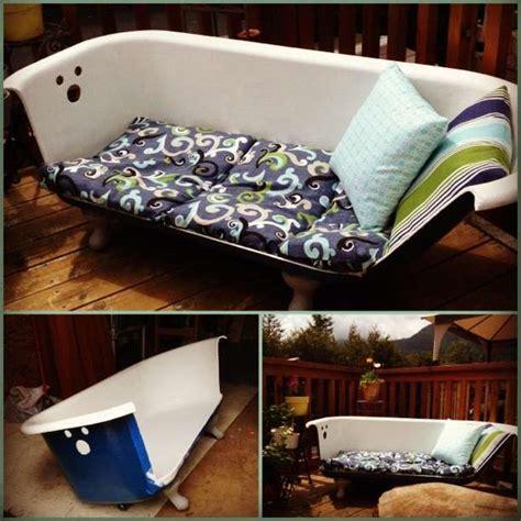 clawfoot tub made into sofa upcycled claw foot tub sofa