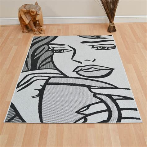 cheap black rugs uk gayle rugs in black and white free uk delivery the rug seller
