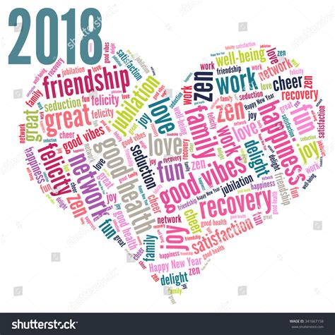 happy new year words happy new year 2018 vector stock vector 341667158