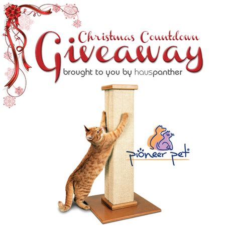 Pioneer Giveaway - christmas countdown giveaway winner ultimate scratching post from pioneer pet