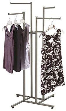 steel 4 way clothing rack arm store