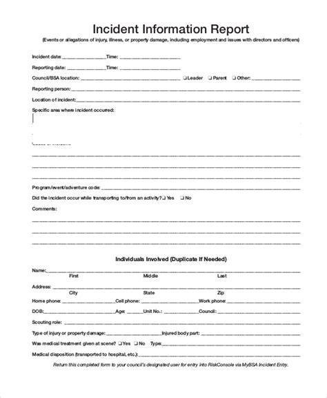 informative report sle sle incident report template 28 images sle incident