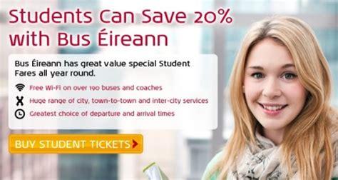 student travel bus eireann view ireland bus  coach