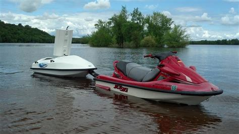 towing seadoo behind boat cargo wave towable storage for your personal watercraft