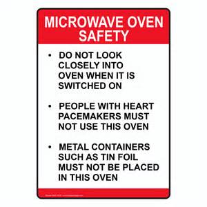 Engraved Kitchen Knives Microwave Oven Safety Sign Nhe 15725 Food Prep Kitchen