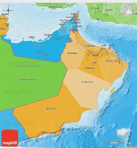 political map of oman political shades 3d map of oman