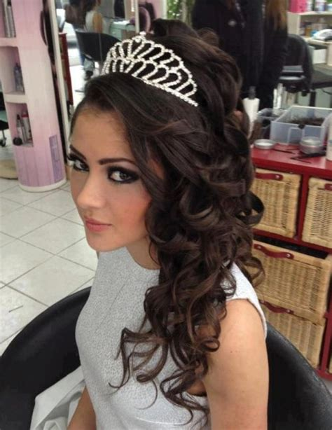 wedding hair half up half with tiara 37 half up half wedding hairstyles anyone would