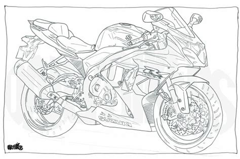 suzuki motorcycle coloring pages adult colouring page motorcycle illustration