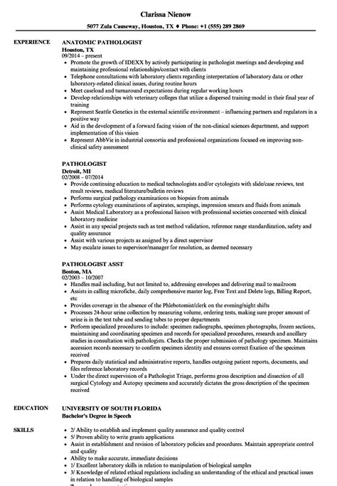 Autopsy Technician Sle Resume by Forensic Pathologist Sle Resume Format Of Salary Certificate Letter