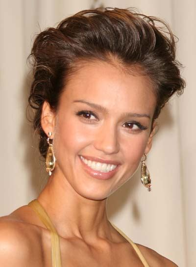 current upstyles jessica alba classic updo hairstyles 2018