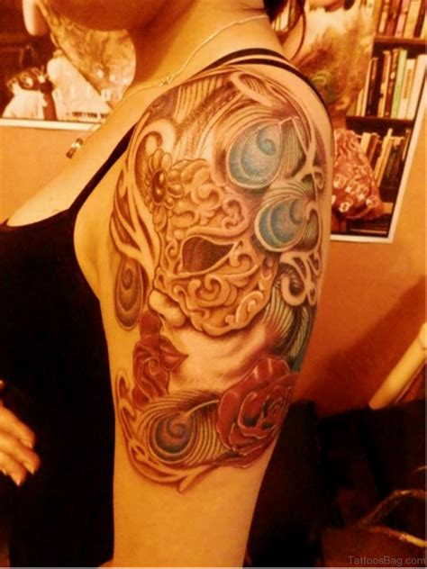 masquerade tattoo 45 great venetian mask tattoos for shoulder