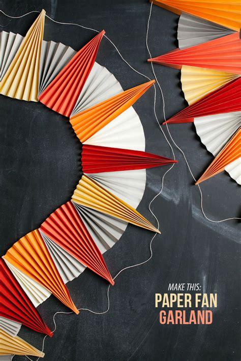 A Paper Fan - paper fan garland diy