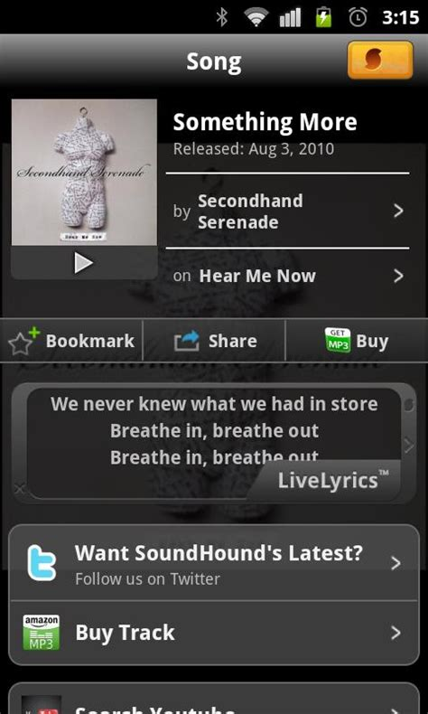 soundhound android aplikacja android soundhound