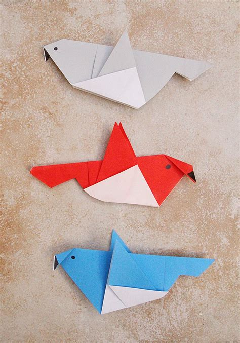 Paper Folding For Children - simple origami birds for or a grown up who needs a