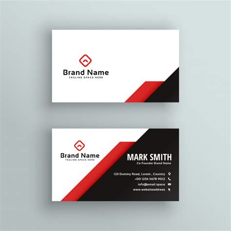 international press card template professional and black business card design vector