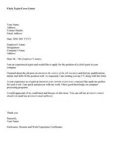 Data Entry Clerk Cover Letter Exles by Clerk Typist Resume Sales Clerk Lewesmr