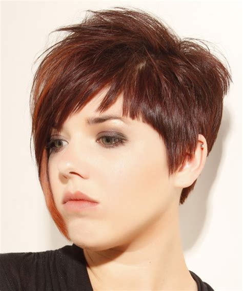 side view of asymmetric hairstyles short straight alternative asymmetrical hairstyle with