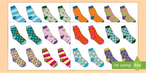 Hunt the Pair and Find a Partner Sock Resource   socks
