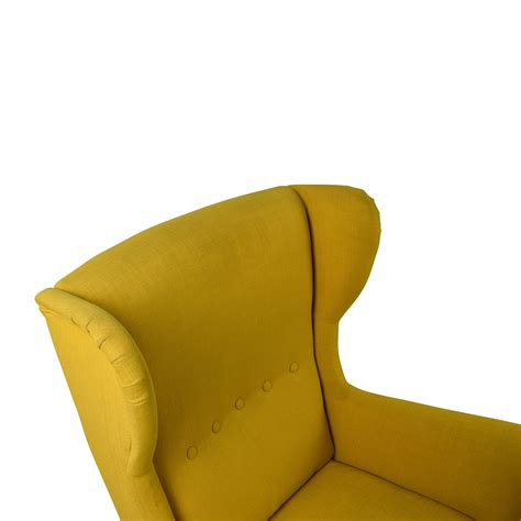 ikea strandmon armchair suede accent armchair modern furniture brickell collection soapp culture