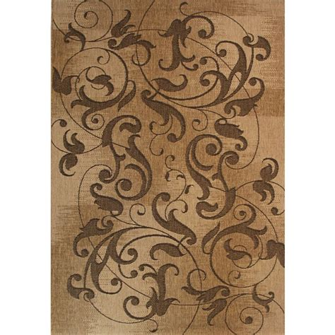 Brown Floral Area Rugs by Balta Kannapolis Indoor Outdoor Brown Floral Area Rug