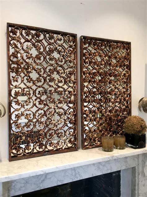 Decorative Mirror Panels by Decorative Ironwork Mirror Panels