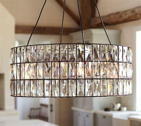 Adeline Crystal Chandelier Pottery Barn For Bathroom Pottery Barn Dining Room Light Fixtures