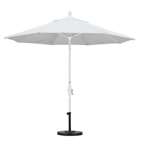 Olefin Patio Umbrella California Umbrella 9 Ft Aluminum Collar Tilt Patio Umbrella In White Olefin Gscu908170 F04