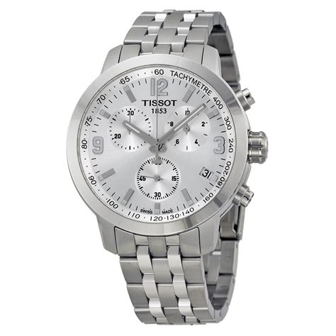 Tissot Prc200 Silver White tissot prc 200 chronograph silver stainless steel s t0554171103700 prc200 t
