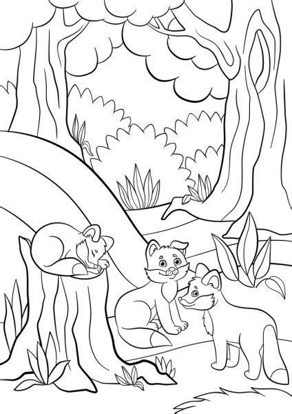 waterfal de foret jungle dessin anime livre  colorier