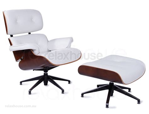 white leather eames lounge chair ottoman replica - Eames Replica Lounge Chair