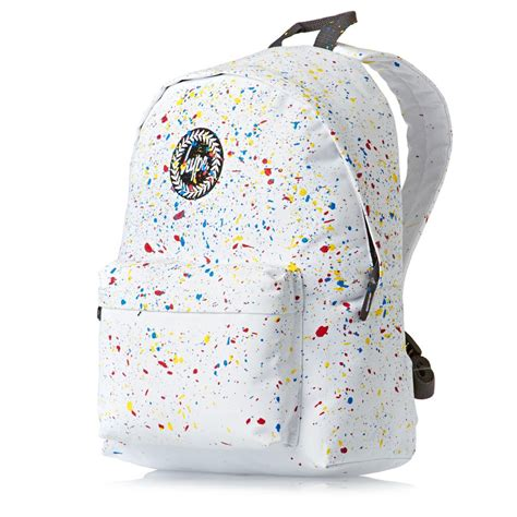 White Backpack Bag hype white primary speckle backpack white free uk