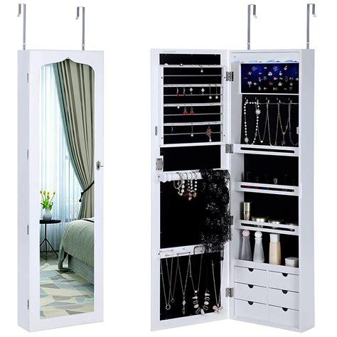 over the door full length mirror jewelry armoire 25 beautiful full length jewelry armoires zen merchandiser