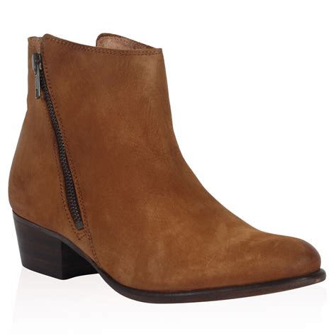 dune womens pacific brown leather heeled ankle