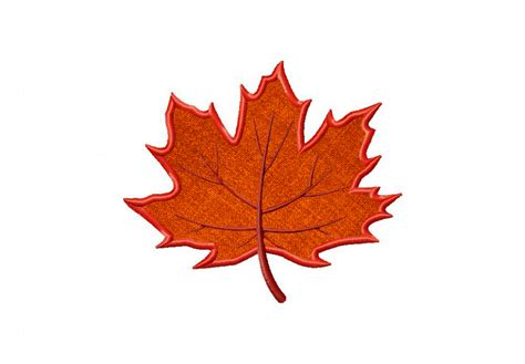 leaf applique autumn maple leaf includes both applique and stitched