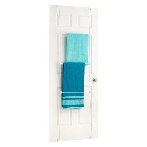 towel rack bungee overdoor towel rack by umbra the