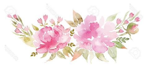 water color flower watercolor flower border vector arenawp