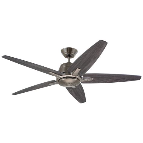 home depot emerson ceiling fans emerson euclid 56 in led antique pewter ceiling fan