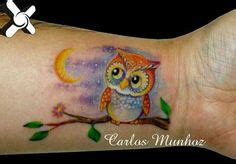 glow in the dark tattoo zetten like the colors and the green shading in backround owl
