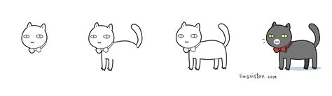 doodle cat drawing how to draw a cat dr