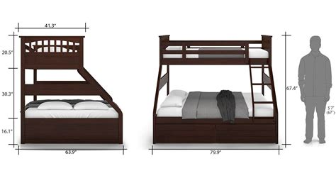Single Size Bunk Beds Barnley Single Storage Bunkbed Ladder