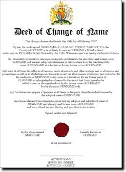 deed poll name change letter template free deed poll change your name for free
